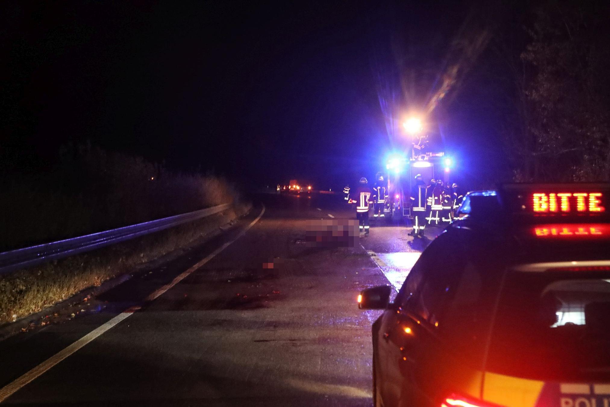 Pferd stirbt bei Unfall mit sechs Autos auf der A7