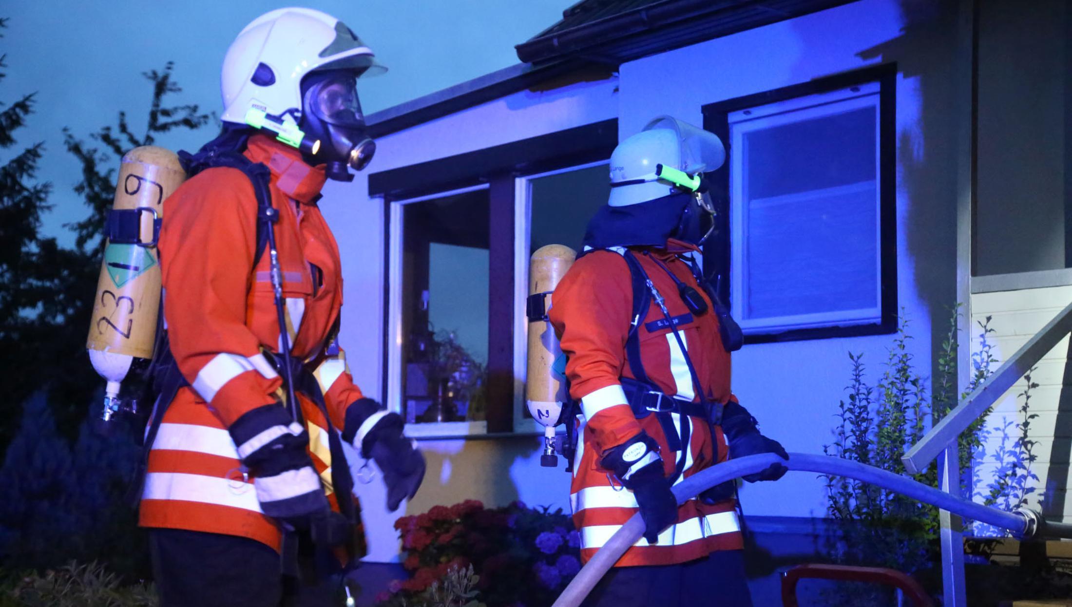 Sirenenalarm: Kellerbrand in Echte