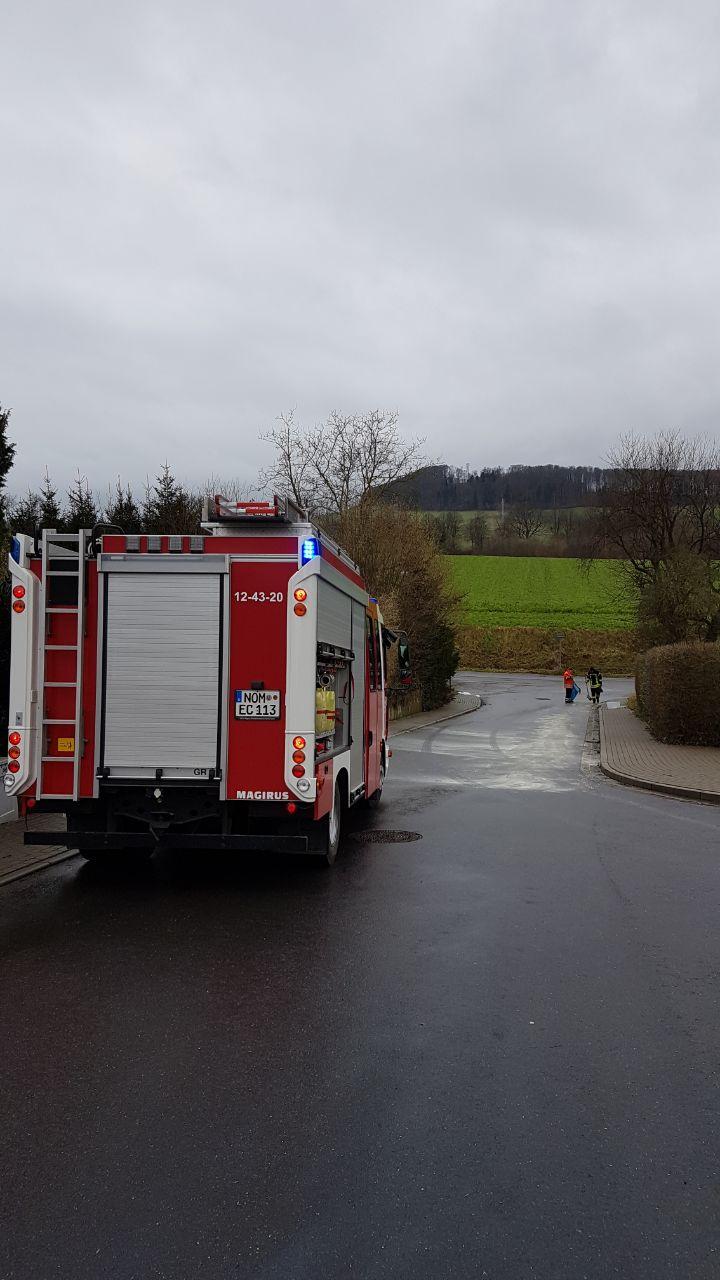 Ölspur in Echte: Feuerwehr im Einsatz