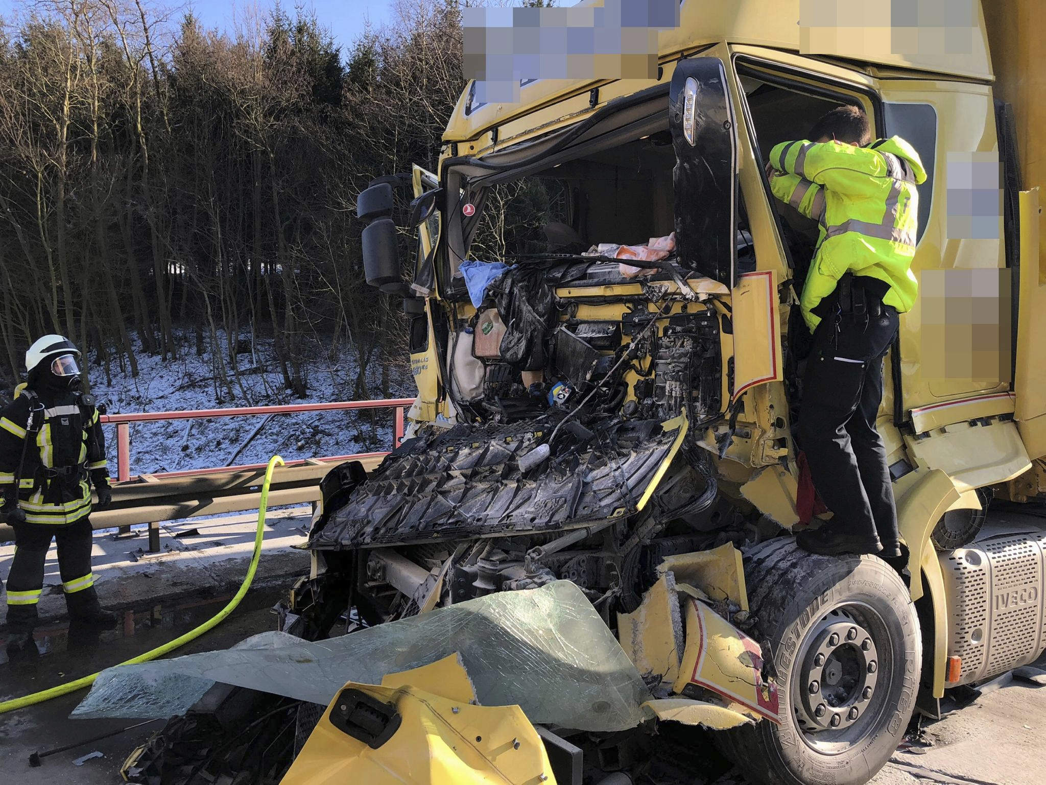 LKW-Unfall bei Echte: A7 voll gesperrt