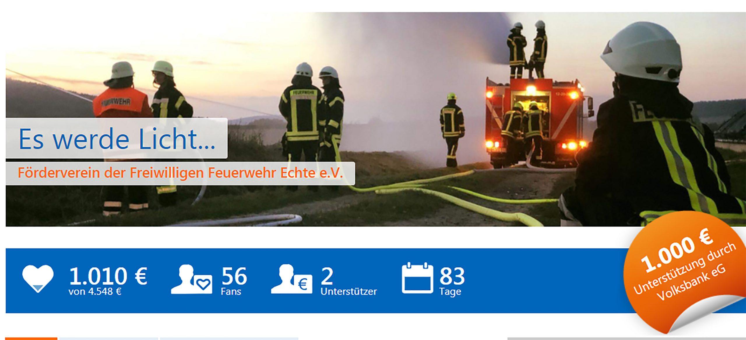 Crowdfunding bei der Feuerwehr: Wie uns jetzt jeder unterstützen kann