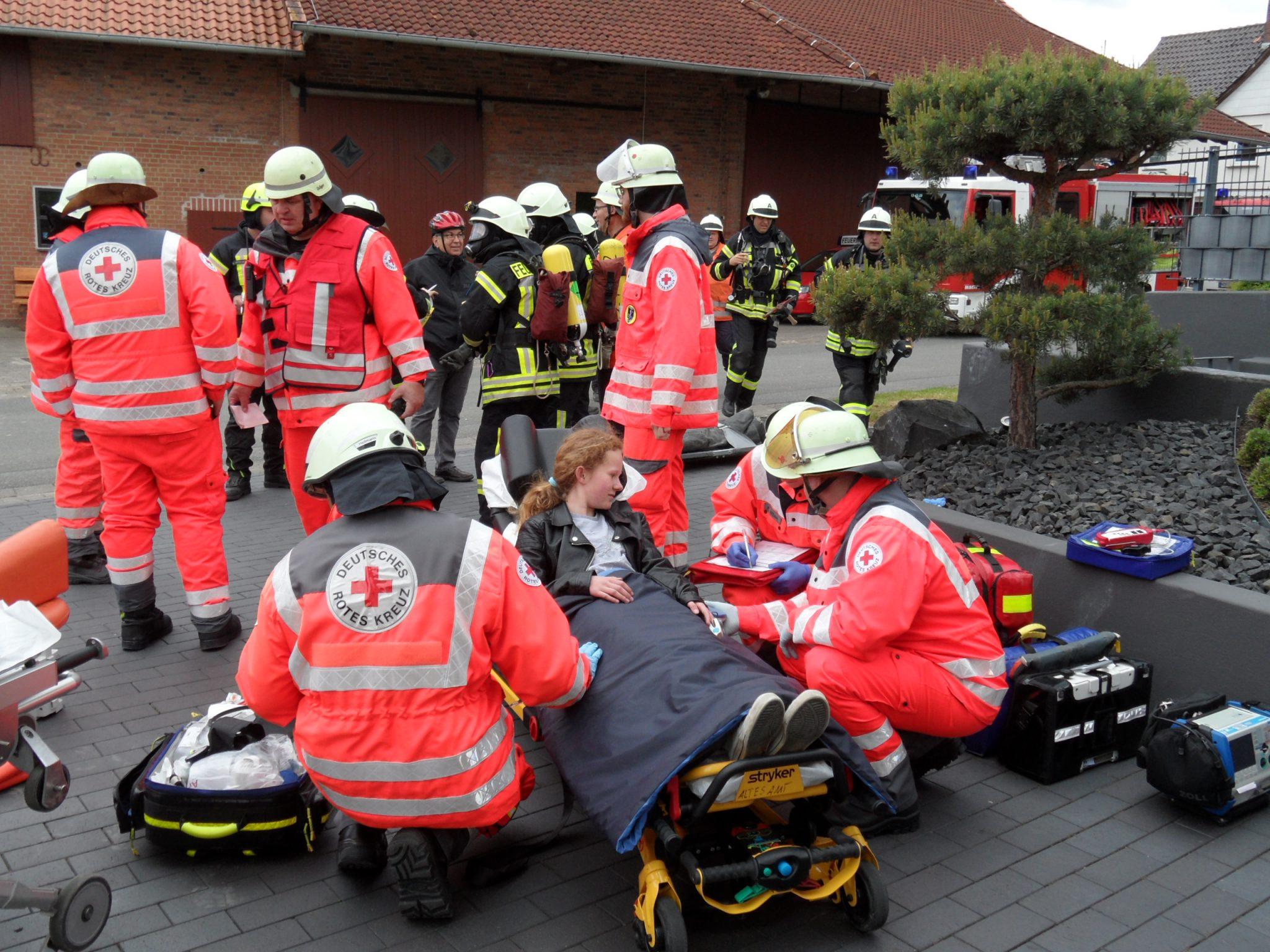 Alarmübung: Scheune brennt in Eboldshausen
