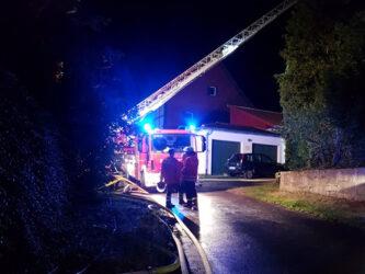 Brandeinsatz in Echte