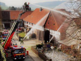 Scheunenbrand in Echte