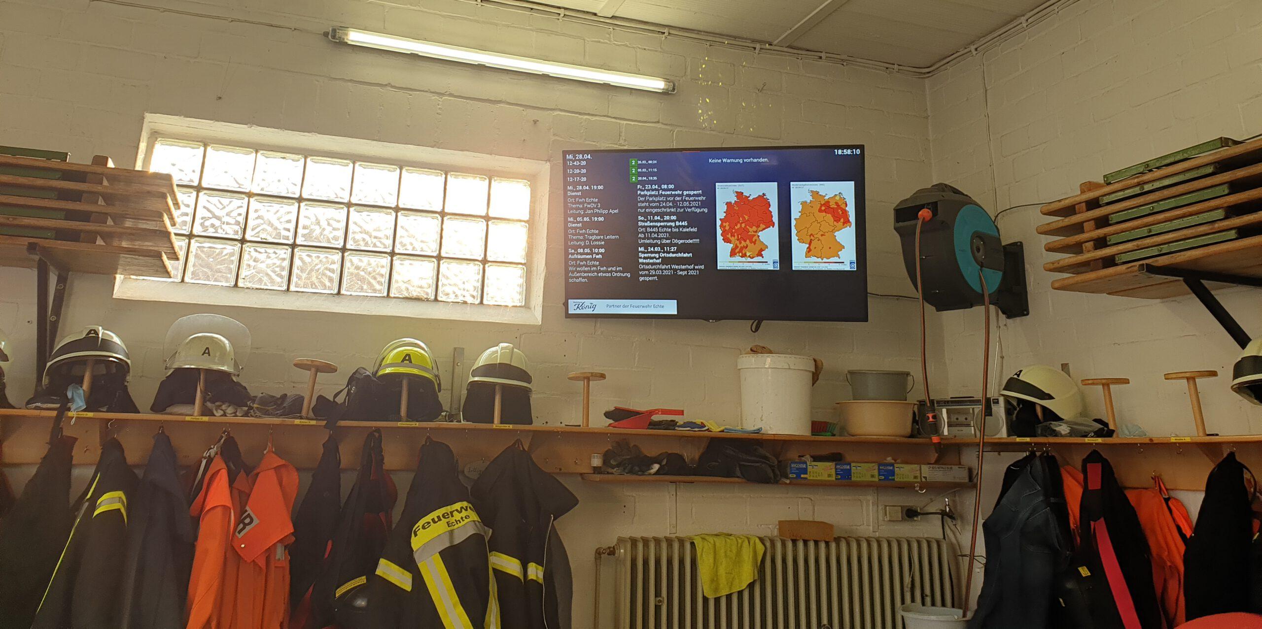Neuer Monitor im Feuerwehrhaus