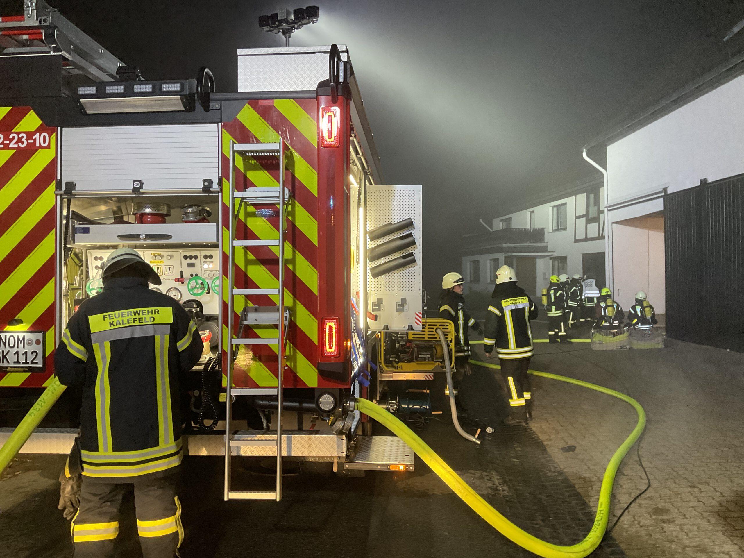 Gebäudebrand Oldershausen